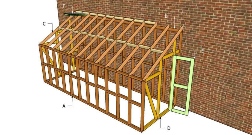 Lean Greenhouse Plans Outdoor Diy Shed