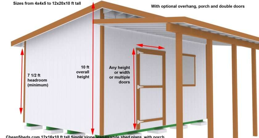 Lean Style Sheds