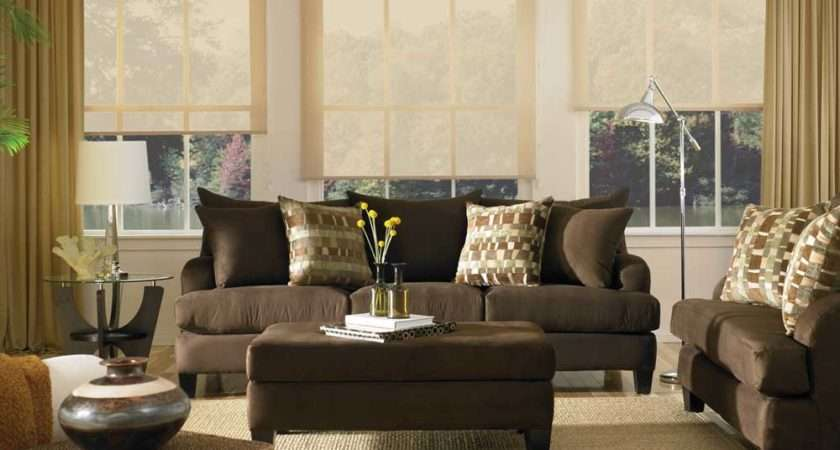 Leather Brown Couch Set Living Room