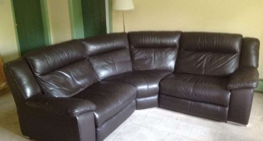Leather Modular Corner Sofa Coated Fabric