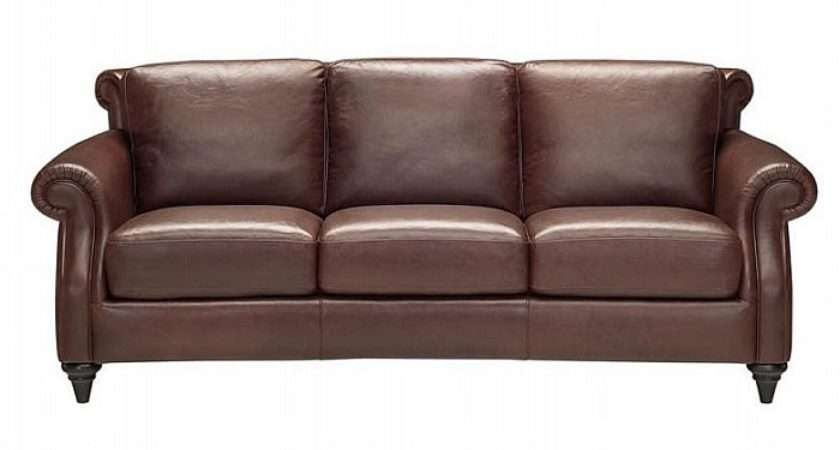Leather Sofa Brown Black Distressed Home