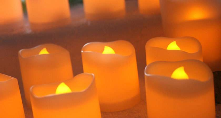 Led Flameless Votive Candles Battery Operated