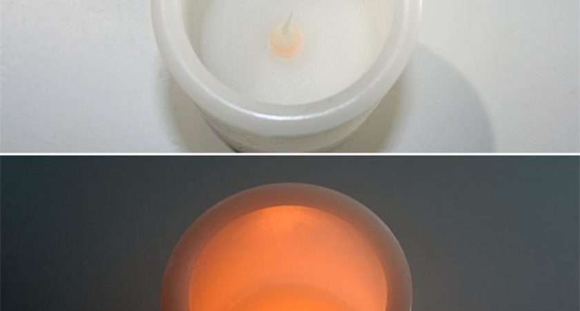 Led Flickering Candle Real Wax Coat Flameless Candles