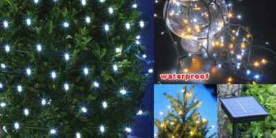 Led Solar Power Fairy String Lights Garden Christmas Event Outdoor