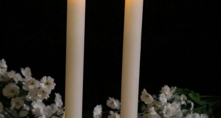 Led Taper Candles Cream Wax Flicker Flame Lights