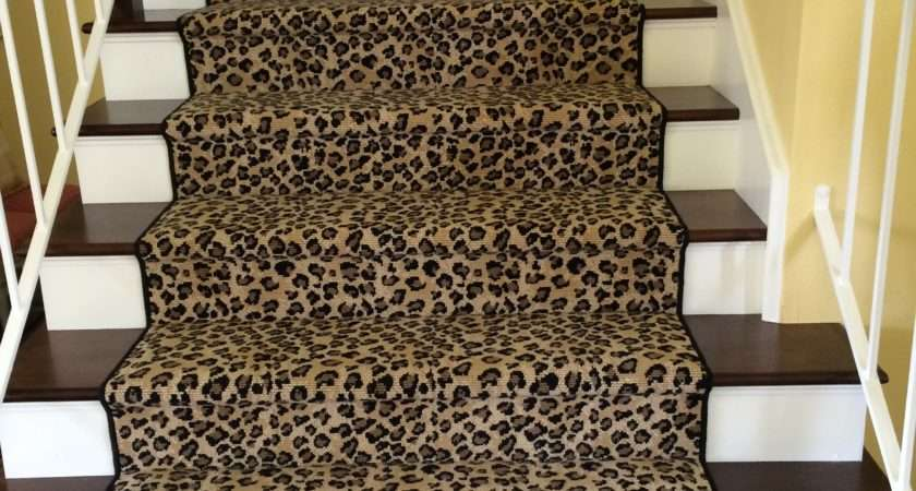 Leopard Animal Print Stair Runner Hemphill Rugs