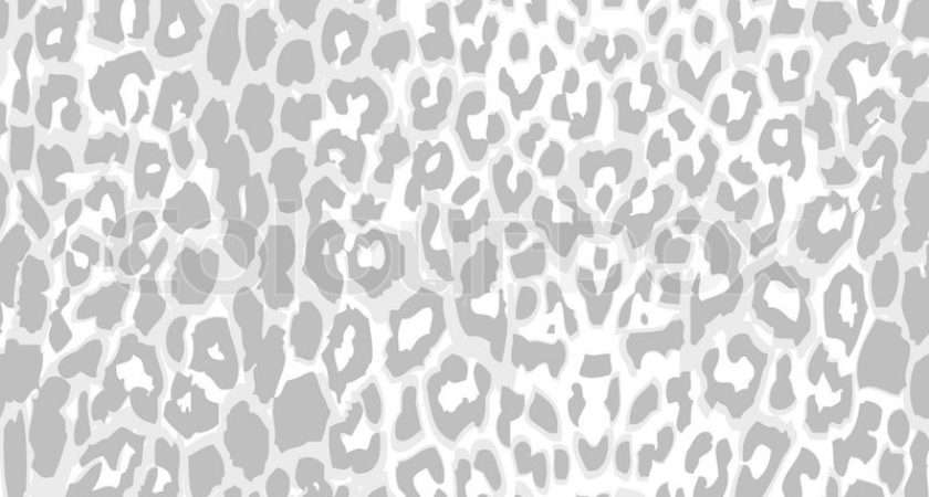Leopard Print Pattern Gray Scale Vector Seamless Grey