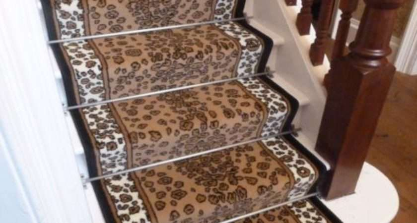 Leopard Stair Carpet Runner Narrow Staircase Animal