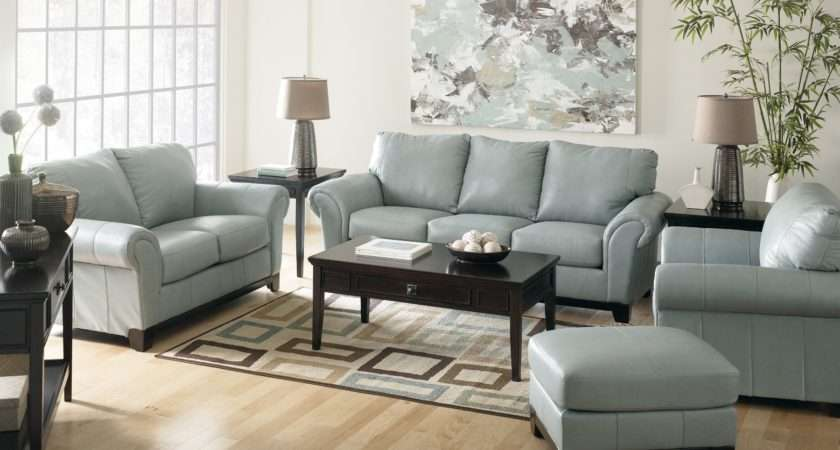 Light Blue Leather Sofa Sets Living Room Decorating