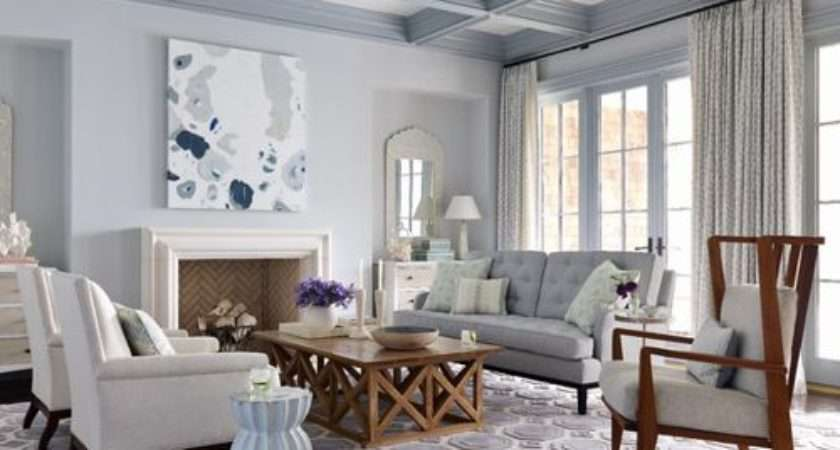 Light Blue Living Room Houzz