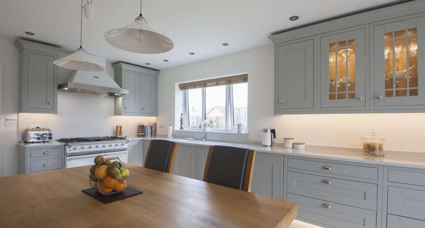 Light Grey Shaker Kitchen Design Herbert William