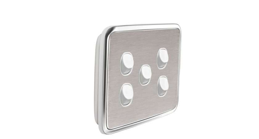 Light Switch Cover Gang Brushed Stainless Steel