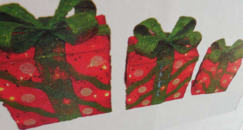 Lighted Christmas Gift Boxes Set Ebay