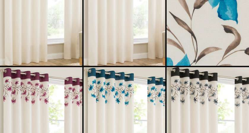 Lily Pair Ring Top Eyelet Fully Lined Ready Made Curtains
