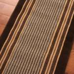Lima Chocolate Brown Stripe Modern Stair Carpet Long Hall Runner Rug