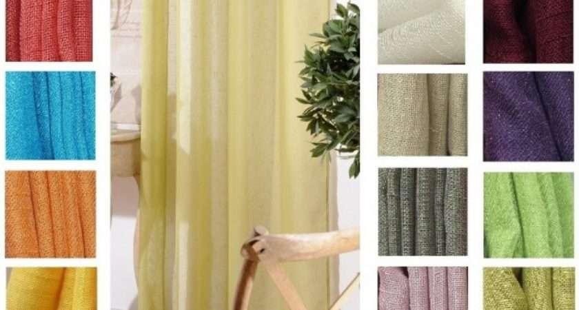 Linen Look Eyelet Ring Top Voile Curtains Home Direct