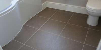 Linoleum Bathroom Tiles Guest Makeover Reveal Beneath