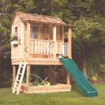 Little Cedar Playhouse Sandbox Outdoor Living