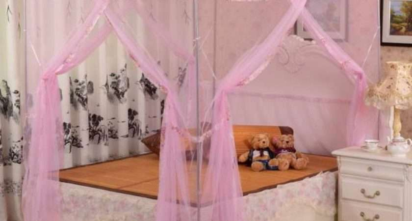 Little Girl Canopy Bed Curtains Design Decoration
