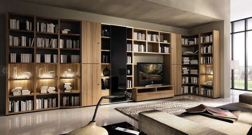 Living Room Big Bookcase Design Ideas Interior