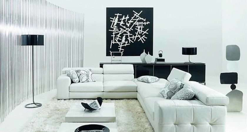 Living Room Black White Ideas