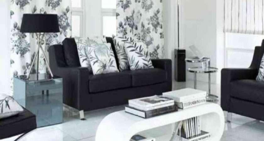 Living Room Black White Modern Design Ideas