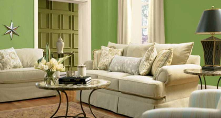 Living Room Color Scheme Ideas Green Wall
