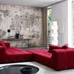 Living Room Comely Decoration Using