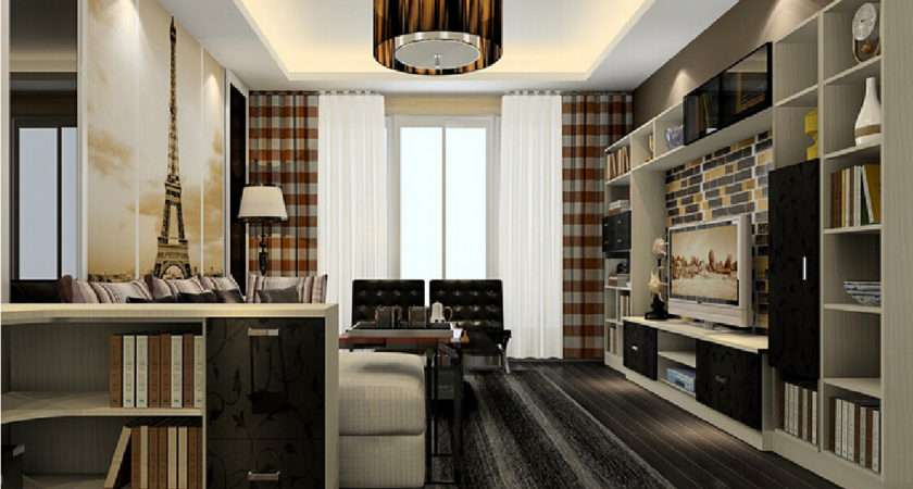 Living Room Design Plaid Curtains House