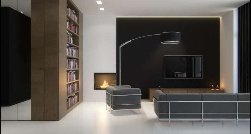 Living Room Designs Black Brown White Sophisticated