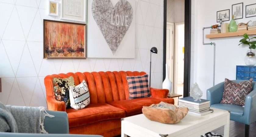 Living Room Eclectic Bright Colors