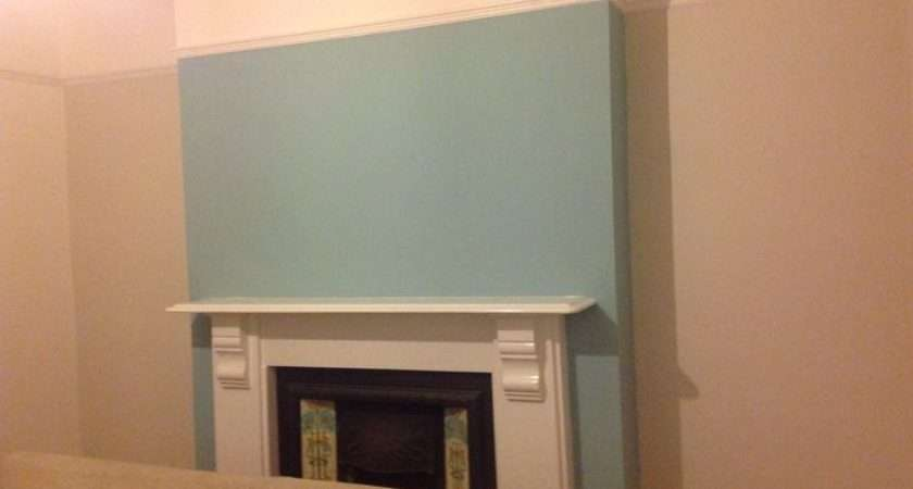 Living Room Feature Wall Dulux Blue Reflection Ideas