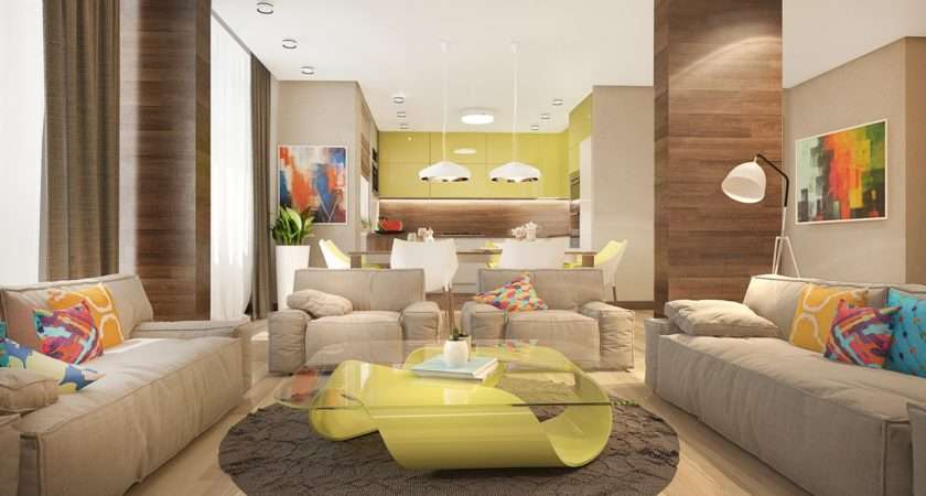 Living Room Gives Great Sense Designer Uses Bright Colors