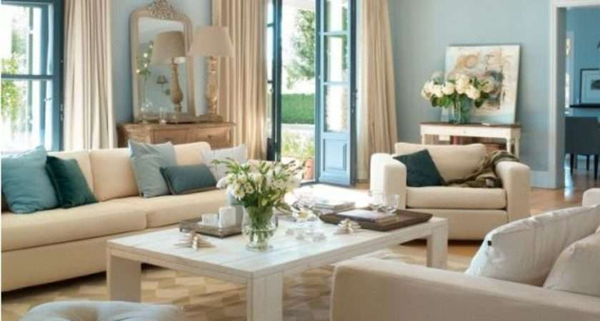 Living Room Inspiring Light Blue Ideas