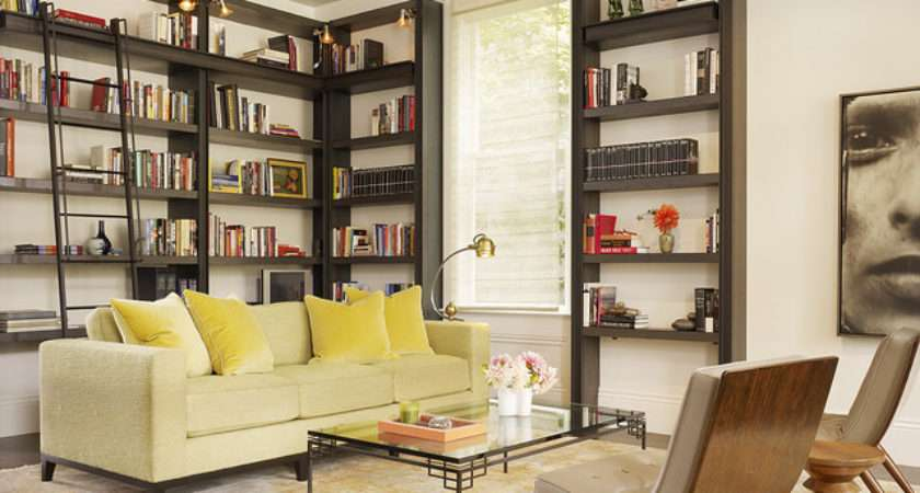 Living Room Library Transitional San