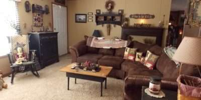 Living Room Perfect Example Manufactured Home Decorating