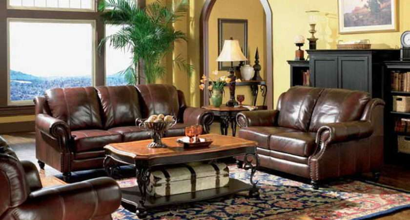 Living Room Rooms Leather Furniture Decorating Ideas