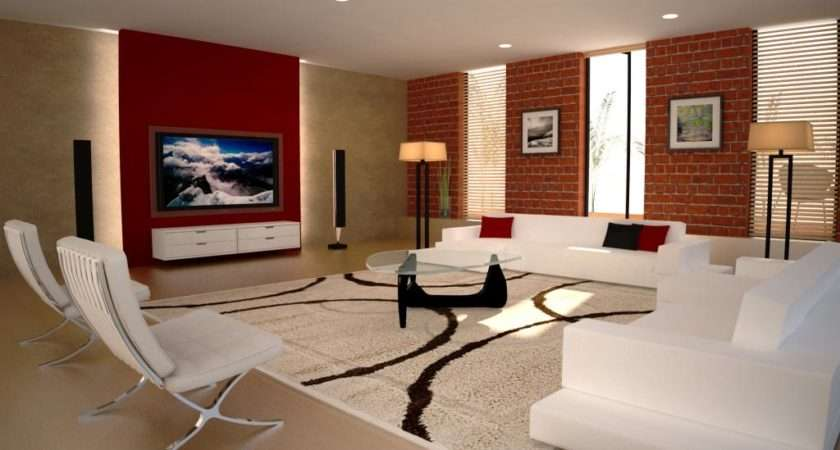 Living Room Setting Designed Max Vray