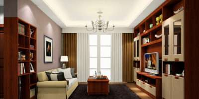 Living Room Study Partition Arches