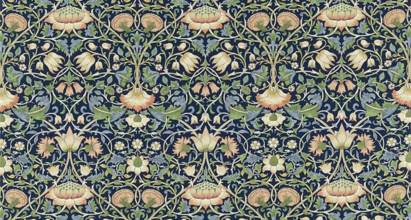 Lodden Fabric Indigo Mineral William Morris