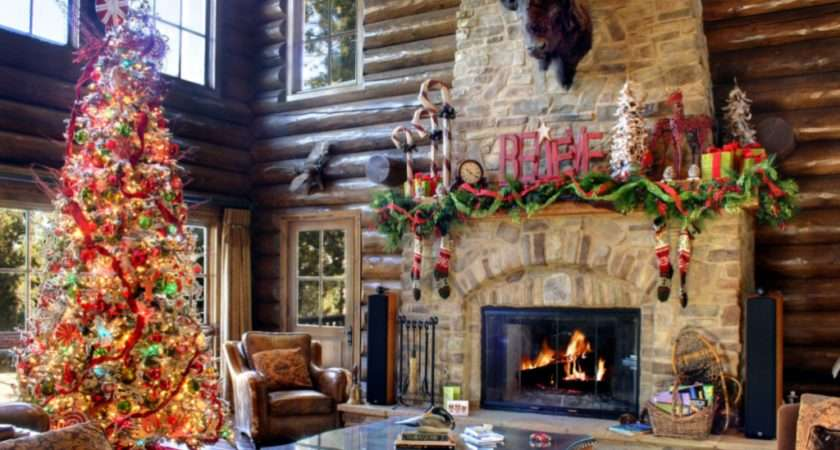 Look Rooms Beautifully Decorated Christmas