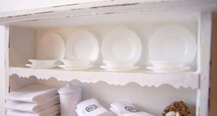 Looking Glass Miniatures Shabby Chic Wall Unit