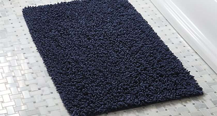 Loop Midnight Bath Rug Reviews Crate Barrel