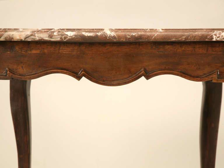Louis Cherry Side Hall Table Marble Top Sale Stdibs
