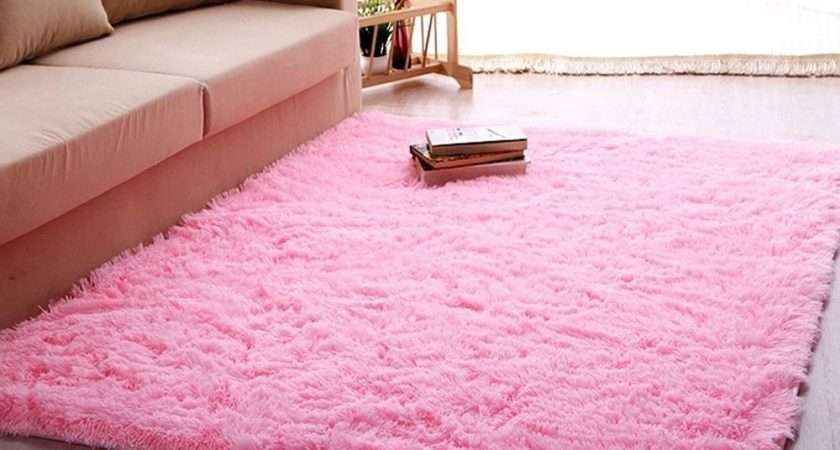 Ltra Soft Thick Indoor Morden Area Rug Baby Pink