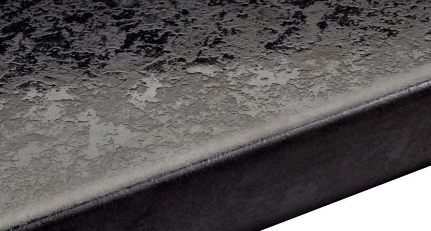 Lunar Night Laminate Black Round Edge Worktop