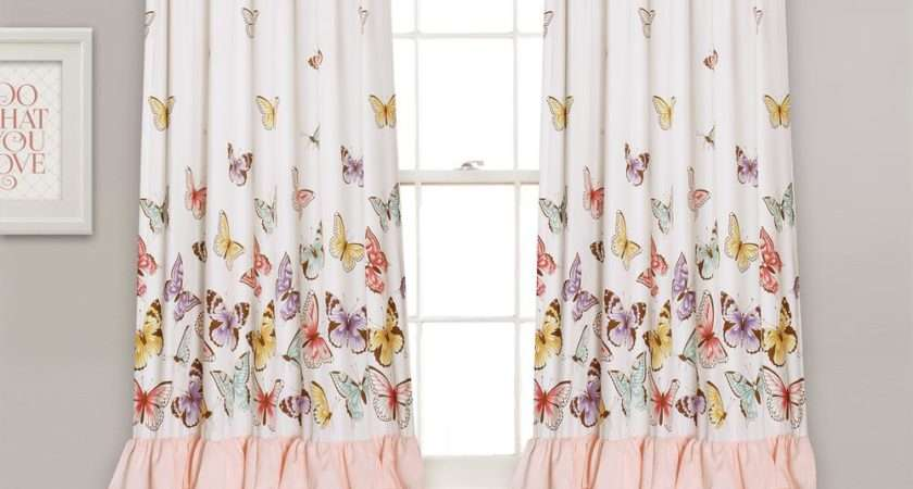 Lush Decor Flutter Butterfly Juvy Window Panel Pink