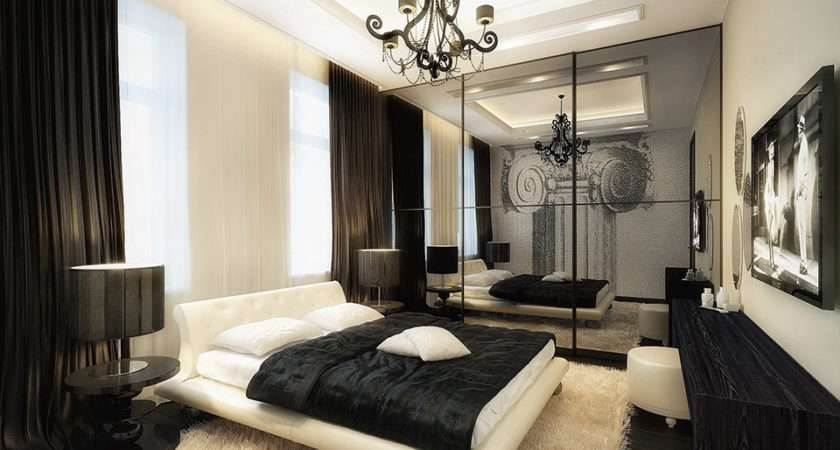 Luxurious Black White Bedroom