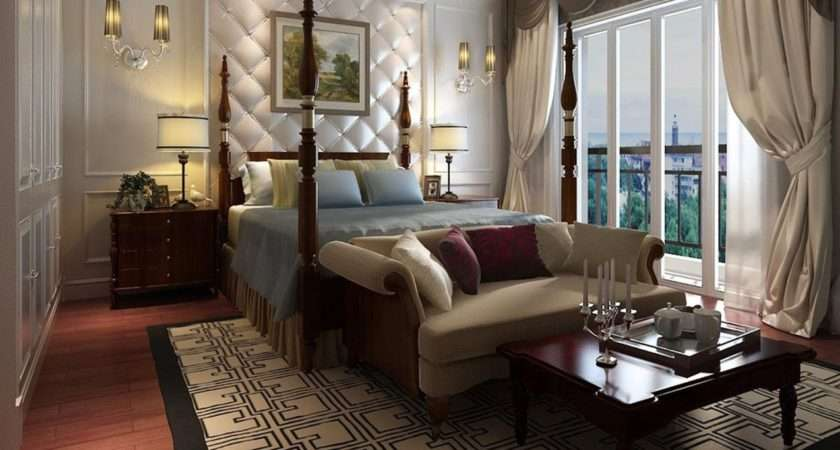 Luxury Bedroom Curtains Bed Small Sofa House