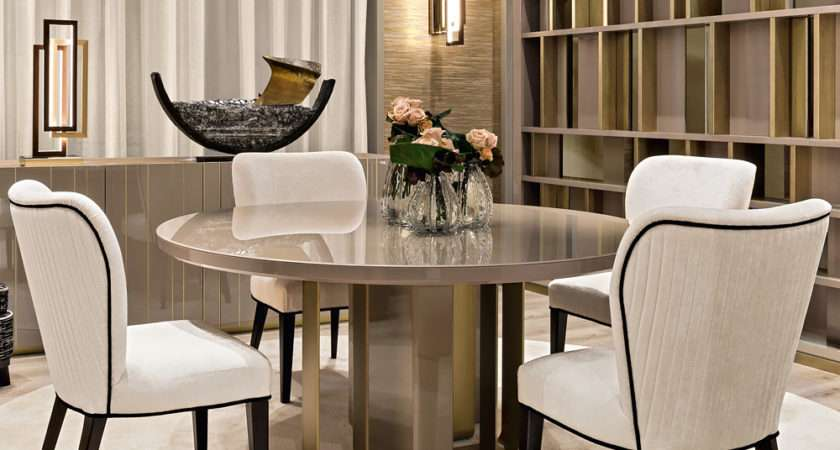 Luxury Italian Designer Dining Table Chairs Set